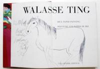 Walasse Ting Horse  Original Drawing Rare Signed & Dedicated, Unique