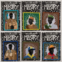KERRY JAMES MARSHALL Set of Six (Six) Scout Series Embroidered Patches (Brand New) 2017, Rayon thread on poly twill backed embroidered patches, set of six
