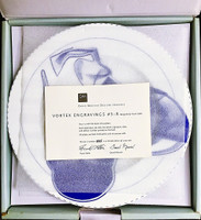 Frank Stella, Vortex Engravings #5 - 8: Gift Box of Four (4) Limited Edition Plates, Signed and Numbered with Signed COA 2000, Suite of four (4) Fine Bone China Plates. Each signed and numbered from the limited edition of 1000 on the verso.