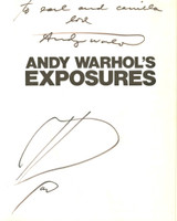 ANDY WARHOL Original Drawing with unique dedication to Earl and Camilla McGrath (Signed Twice by Andy Warhol) 1979, Original heart drawing on endpaper, hand signed and dedicated, in book, with additional signature