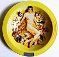 Mel Ramos Cacciucco - Coco Pazzo - New York, NY ca. 2000, Ceramic Plate. Artist Signature Fired into Plate.