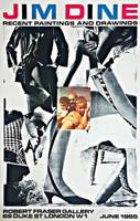 Jim Dine The Robert Fraser Gallery print, 1965