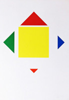 Max Bill Untitled Mid Century Modern Geometric Abstraction 1964, Silkscreen. Hand Signed. Numbered. Dated. Framed.