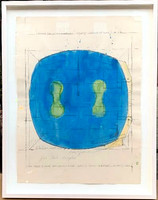 Ron Gorchov Untitled mixed media, inscribed to Robert Vogele 1978