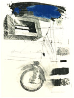 Robert Rauschenberg Test Stone #6 (Blue Cloud) from the Booster and 7 Studies Series (Foster, 45, G:33) 1967, Lithograph. Hand Signed. Numbered. Dated. with the bindstamp and inkstamp (verso) of the printer and publisher, Gemini G.E.L., Los Angeles.