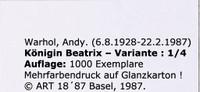Queen Beatrix (Königin Beatrix) for Art Basel