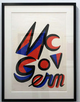 Alexander Calder, McGovern for McGovernment (Signed by BOTH Calder and George McGovern), 1972