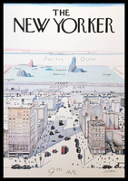Saul Steinberg, The New Yorker, 1976