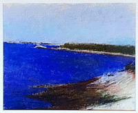 Wolf Kahn, The Densest Blue of Maine Water (De-accessioned from the Nevada Museum of Art), 1998