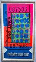 Andy Warhol, Lincoln Center Ticket (Feldman & Schellmann, II.19), 1967 - Hand Signed & Numbered Edition on Opaque Acrylic (Framed)
