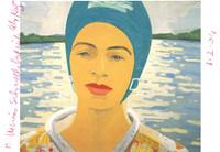 Alex Katz, Ada with Bathing Cap (Hand signed), 2004