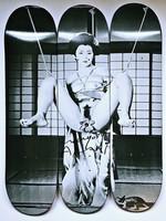 Nobuyoshi Araki, Geisha Skateboard Triptych, 2014