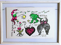 Niki de Saint Phalle, You Are My Love Forever and Ever and Ever, 1968