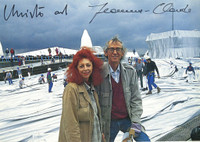 Christo and Jeanne-Claude at the Reichstag, 1995