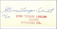 Thomas Lanigan-Schmidt, Untitled from Artsounds Collection, 1986