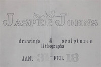 Jasper Johns, Drawings, Sculptures & Lithographs at Leo Castelli (Hand Signed), 1961