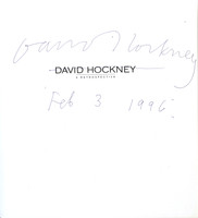 David Hockney: A Retrospective (Signed and Dated), 1988 Softback monograph with stiff wraps.