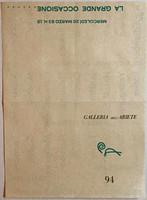 Abstract Expressionist Artists: La Grande Occassione Della Pittura Americana Milano, 1963  (Hand Signed by Jim Dine)