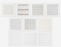 Agnes Martin, Suite of The (10) Individual Lithographs for the Stedelijk Museum, 1991