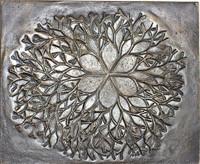 """Ruth Asawa Cast Bronze Sculpture Bas Relief """"Flower"""", 1979"""