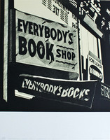 "Robert Cottingham ""Everybody's Book Shop, Everybody's Books"", Color Lithograph, 1975 (Swiss Arts Portfolio)"