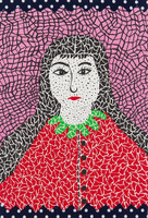 Yayoi Kusama, Self-portrait, 1982, Lithograph with collage on Velin d'Arches paper, Signed, Numbered