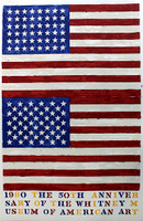 JASPER JOHNS, Two Flags (Whitney Anniversary), 1979–1980, Lt. Ed. Lithograph