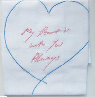 Tracey Emin, My Heart is With You Always (Pink and Blue), 2015