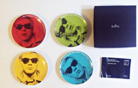 Andy Warhol, Set of Four Limited Edition Self Portrait Plates for Rosenthal in Original Box