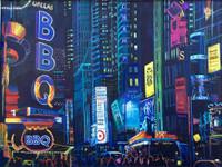 Thelma Appel, Times Square IX, (Dallas BBQ) 2016