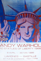 ANDY WARHOL 10 STATUES OF LIBERTY 1986 RARE ORIGINAL OFFSET LITHOGRAPH, 1986 (Lt Ed; Lifetime Edition)