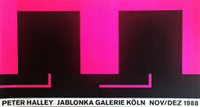 Peter Halley, Jablonka Galerie Exhibition Poster, Signed & Dedicated (From the collection of  artist Bill Radawec), 1988