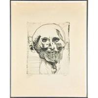 Leonard Baskin, GERICAULT (Homage to French painter Jean-Louis André Théodore Géricault), 1963