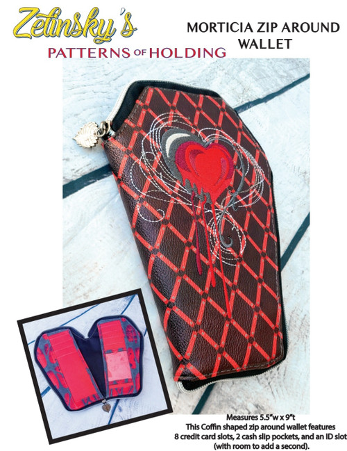 Morticia Zip Around Wallet DIGITAL PDF PATTERN