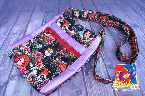 Floral Heroines Double Zip Crossbody Bag