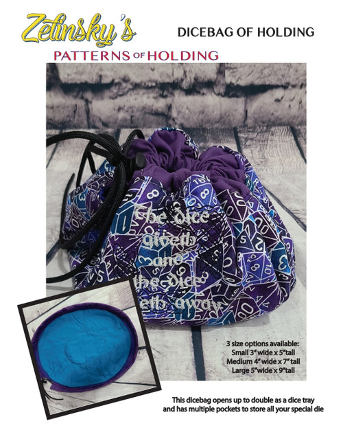 Dicebag of Holding DIGITAL PDF PATTERN