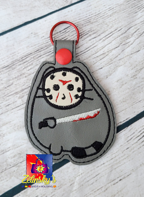 Killer Cat Embroidered Snaptab