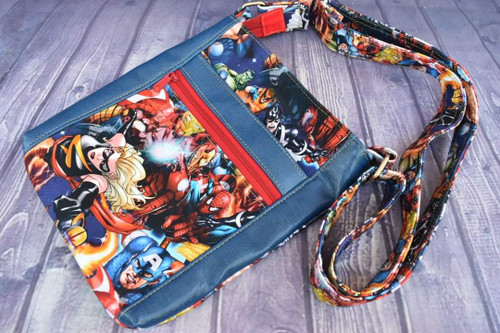 Avenging Heroes Double Zip Crossbody