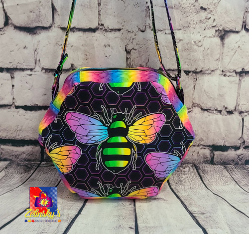 Rainbee Honeycomb Crossbody Bag