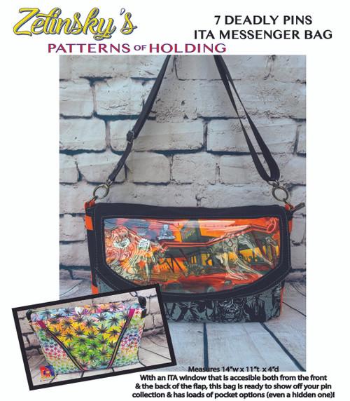 7 Deadly Pins ITA Messenger Bag DIGITAL PDF PATTERN