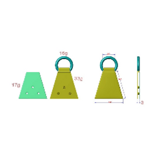 Triangle Edge Connector - pack of 2