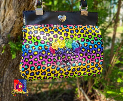 Rainbow Leopard Daryl's Drive Handbag