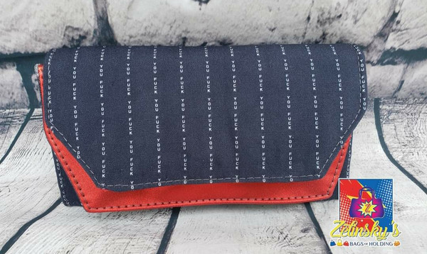 FU Pinstripe Double Flap Wallet
