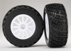 Traxxas BFGoodrich S1 Compound Tires and White Wheels Assembled for 1/10 Rally VXL Car, 7473R