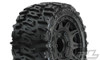 """Pro-Line Trencher LP 2.8"""" All Terrain Tires Mounted on Raid Black 6X30 Removable Hex Wheels, 10159-10"""