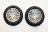 DHK Front Tires Mounted on Chrome Wheels for Wolf Buggy, 8131-022