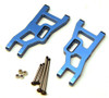 ST Racing Heavy Duty Aluminum Front A-Arm Set with Steel Lock-Nut Hinge-Pins - Blue, 3631XB