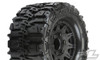 """Pro-Line Trencher HP 2.8"""" All Terrain Belted Truck Tires Mounted on Raid Black 6X30 Removable Hex Wheels, 10168-10"""