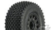 "Pro-Line Gladiator SC 2.2""/3.0"" M2 Medium Off-Road Tires Mounted on Raid Black 6X30 Removable Hex Wheels, 1169-10"