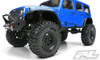 "Pro-Line Hyrax 1.9"" G8 Rock Terrain Truck Tires Mounted on Impulse Black Plastic Internal Bead-Loc Wheels, 10128-10"